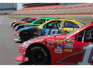 NASCAR race cars in fleet